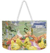 Pink Plate Of Pears Weekender Tote Bag