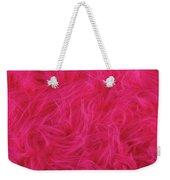 Pink Plush Fabric Weekender Tote Bag