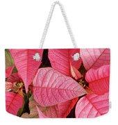 Pink Poinsettias Weekender Tote Bag