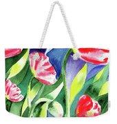 Pink Poppies Batik Style Weekender Tote Bag