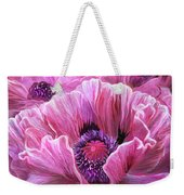 Pink Poppy Splash Weekender Tote Bag