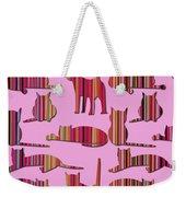 Pink Pussy Cat Weekender Tote Bag