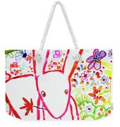 Pink Rabbit Weekender Tote Bag