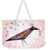 Pink Raven With Heart Weekender Tote Bag
