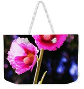 Pink Red Flower Weekender Tote Bag