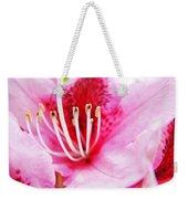 Pink Rhodie Flowers Art Prints Canvas Rhododendrons Baslee Troutman Weekender Tote Bag