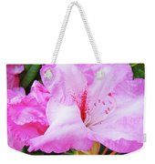 Pink Rhododendron Art Print Floral Canvas Rhodies Baslee Troutman Weekender Tote Bag
