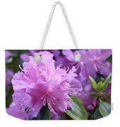Light Purple Rhododendron With Leaves Weekender Tote Bag