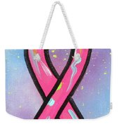 Pink Ribbon Weekender Tote Bag