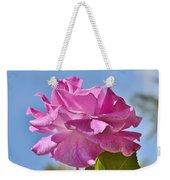 Pink Rose Against Blue Sky I Weekender Tote Bag