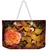 Pink Rose And Yellow Orchids Weekender Tote Bag