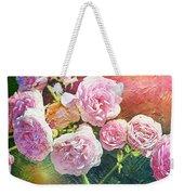 Pink Rose Artwork Weekender Tote Bag