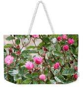 Pink Rose Buds Weekender Tote Bag