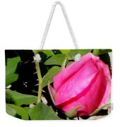 Pink Rose Buds Weekender Tote Bag