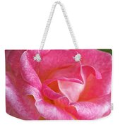 Pink Rose Close Up Weekender Tote Bag