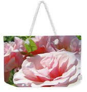 Pink Rose Flower Garden Art Prints Pastel Pink Roses Baslee Troutman Weekender Tote Bag