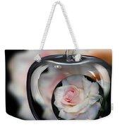 Pink Rose In Apple Weekender Tote Bag