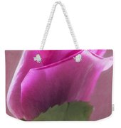 Pink Rose In Light Weekender Tote Bag