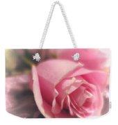 Pink Rose Macro Abstract 1 Weekender Tote Bag