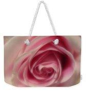 Pink Rose Macro Abstract Weekender Tote Bag