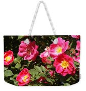 Pink Rose Of Sharon Blooms      Spring     Indiana Weekender Tote Bag