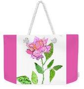 Pink Rose, Painting Weekender Tote Bag