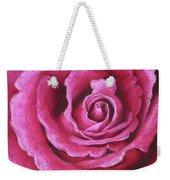 Pink Rose Pastel Painting Weekender Tote Bag