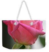 Pink Rose Squared Weekender Tote Bag