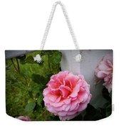 Pink Rose Weekender Tote Bag by Valeria Donaldson
