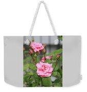 Pink Rose With Buds Weekender Tote Bag