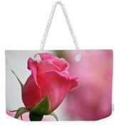Pink Rosebud 3 Weekender Tote Bag