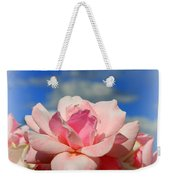 Pink Roses Against The Beautiful Arizona Sky Weekender Tote Bag