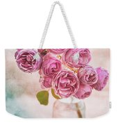 Pink Roses Beauty Weekender Tote Bag
