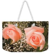 Pink Roses Fine Art Photography Print Weekender Tote Bag