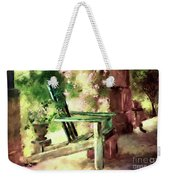 Pink Roses On The Porch Weekender Tote Bag