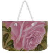 Pink Roses Oval Framed Weekender Tote Bag