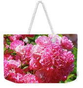 Pink Roses Summer Rose Garden Roses Giclee Art Prints Baslee Troutman Weekender Tote Bag