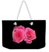 Pink Roses With Enameled Effects Weekender Tote Bag