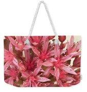 Pink Sedum Flower Macro Weekender Tote Bag