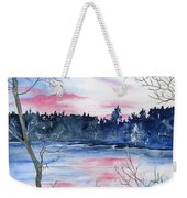 Pink Sky Reflections Weekender Tote Bag