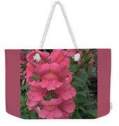 Pink Snapdragons Weekender Tote Bag
