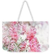 Pink Snapdragons Watercolor Weekender Tote Bag