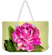 Pink Speckled Rose 1 Weekender Tote Bag