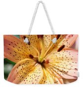 Pink Spotted Lilly Weekender Tote Bag