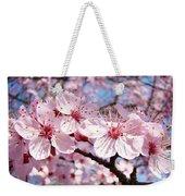 Pink Spring Blossoms Art Print Blue Sky Landscape Baslee Troutman Weekender Tote Bag