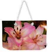 Pink Spring Lilly Weekender Tote Bag