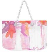 Pink Still Life Weekender Tote Bag