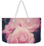 Pink Summer Roses Weekender Tote Bag