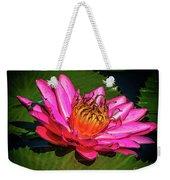 Pink Summer Water Lily Weekender Tote Bag