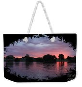 Pink Sunset Panorama With Black Framing Weekender Tote Bag